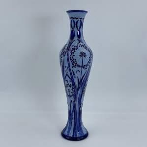 Moorcroft Leila Vase Blue Dandelions