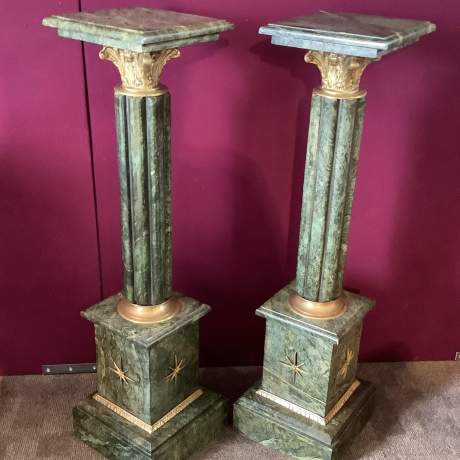 Pair of Solid Marble Columns image-2