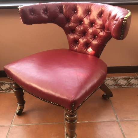 A Wonderful Victorian Cock Fighting Mahogany Armchair image-1