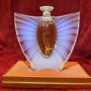Lalique Sylphide Opalescent Glass Scent Bottle and Original Box