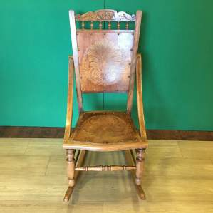 Late Victorian Embossed Rocking Chair
