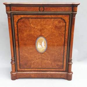A Victorian Exhibition Quality Burr Walnut Pier Side cabinet