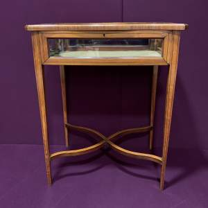 Victorian Sheraton Revival Satinwood Inlaid Bijouterie Table