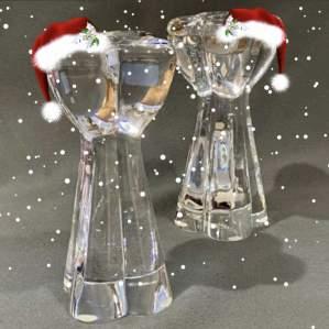 Pair of Baccarat Glass Candlesticks