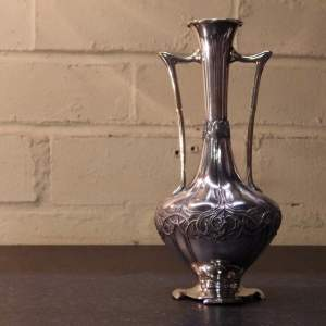 WMF Art Nouveau Silver Plated Stylised Vase