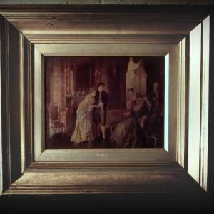 19th Century Framed Crystoleum Picture