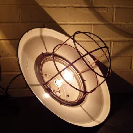 Vintage Industrial Green Enamel Electric Lamp Large Ships Pendant Ceiling Light image-3