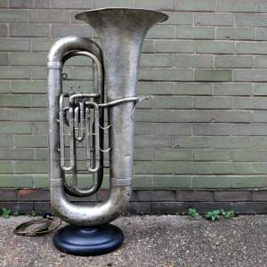 Fab Quality Vintage Triumphonic Tuba Upcycled Steampunk Uplighter Lamp