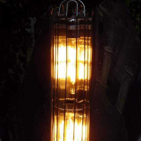 Art Deco 1940s Bunting Chrome Yacht Fire Lamp image-3