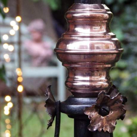 Arts and Crafts Copper and Wrought Iron Standard Lamp image-5