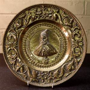 Gothic Revival 17th Giovanni Cornaro 19th Century Brass Alms Dish