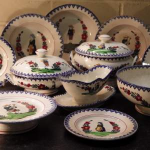 French Faience J Vieillard and Co Bordeaux Antique Dinnerware
