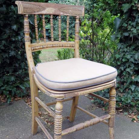 Regency Period 19th Century Country House Side Chair with Original Paint image-1