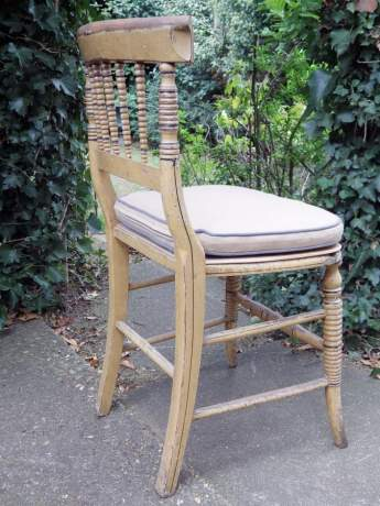 Regency Period 19th Century Country House Side Chair with Original Paint image-5