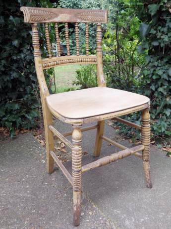 Regency Period 19th Century Country House Side Chair with Original Paint image-8