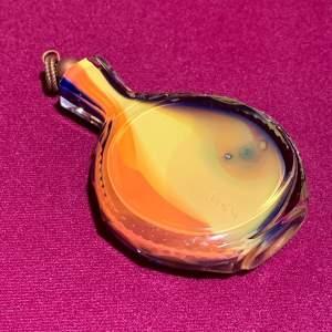 Multicoloured Cased Glass Flask