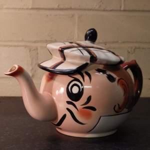 Wade 1950s Vintage Novelty Andy Capp Golfer Teapot