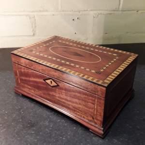 Victorian Antique Inlaid Mahogany Jewellery Box