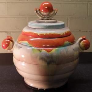 Dumler and Breiden 1930s Art Deco German Pottery Large Punch Bowl