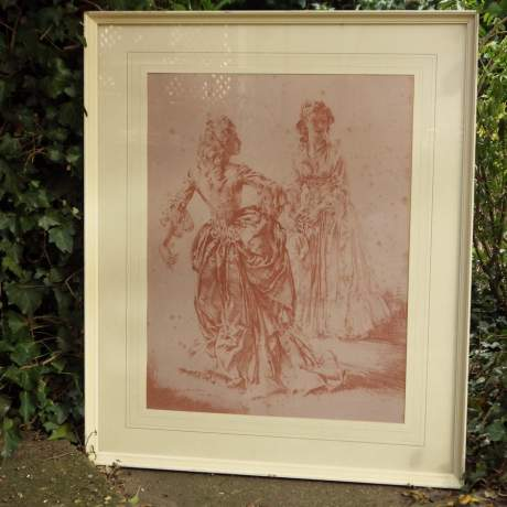 William Russell Flint 1970s Theroigne and Lucille Ltd Edition Large Framed Print image-1