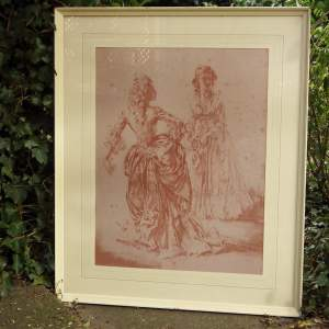 William Russell Flint 1970s Theroigne and Lucille Ltd Edition Large Framed Print