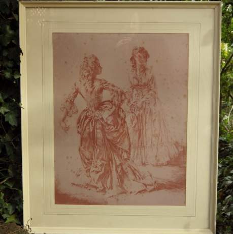 William Russell Flint 1970s Theroigne and Lucille Ltd Edition Large Framed Print image-4