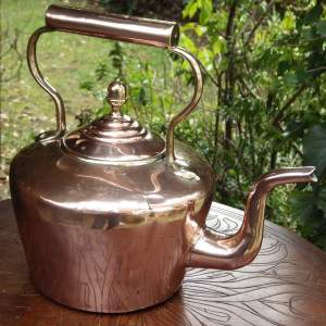 Victorian 19th Century Antique Large Copper Kettle