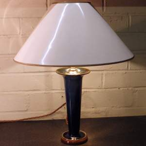 Danesby Ware Bourne Denby 1930s Electric Blue Art Pottery Table Lamp