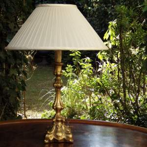 Good Quality Early 20th Century Giltwood Table Lamp