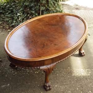 Asprey of London Fine Quality 1920s Walnut Coffee Table