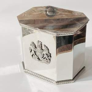 Early 20th Century Silver Plated Tea Caddy