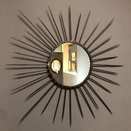 Pair of Vintage Starburst Wall Mirrors image-7