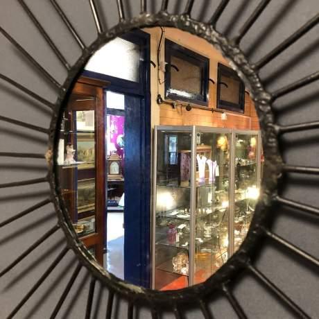 Pair of Vintage Starburst Wall Mirrors image-10
