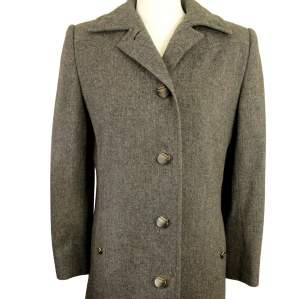 Aquascutum Grey Ladies Size 8 Wool Overcoat