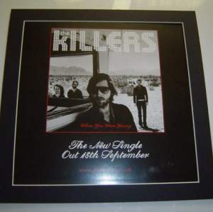 4 x The Killers Original Uk Rare Posters In Mounts Ready To Frame