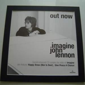 4 x John Lennon Original Rare Posters In Mounts Ready To Frame