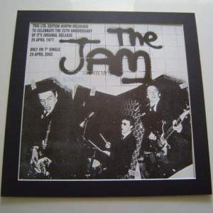 3 x The Jam Original Uk  Posters In Mounts Ready To Frame