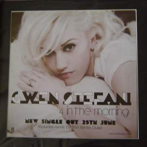 4 x Gwen Stefani  Original Rare Posters In Mounts Ready To Frame