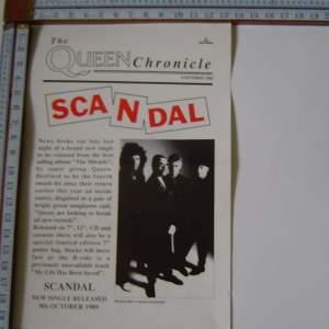 Queen 1989 Scandal EMI   Original Poster
