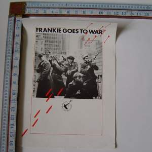 Frankie Goes To Hollywood Goes To War  1984 Original Poster
