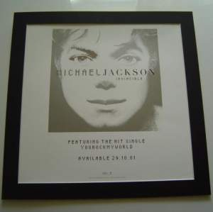 3 x Michael Jackson Original Uk Posters In Mounts Ready To Frame