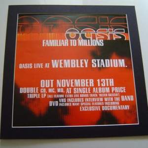 5 x Oasis Original Uk Rare Posters In Mounts Ready To Frame