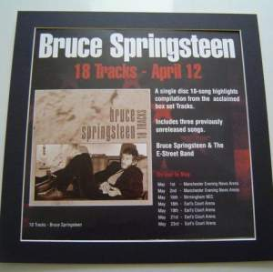 4 x Bruce Springsteen  Rare Posters In Mounts Ready To Frame