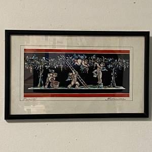 Original Framed Watercolour by Antonio Francione