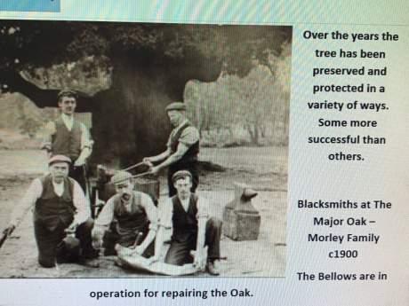 Antique English  Bellows - Major Oak - Sherwood Forest image-9