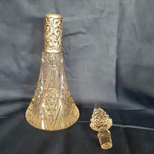Silver Collared Perfume Bottle