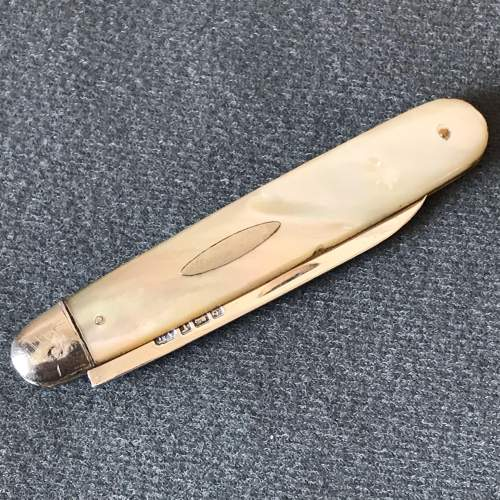 Edwardian Silver and Mother of Pearl Pen Knife image-3