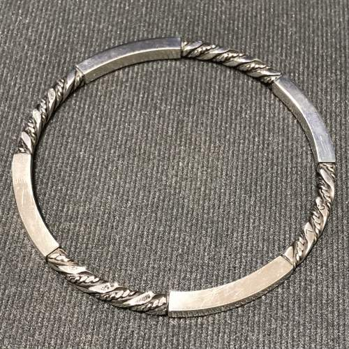 Georg Jensen Danish Silver Bangle image-1