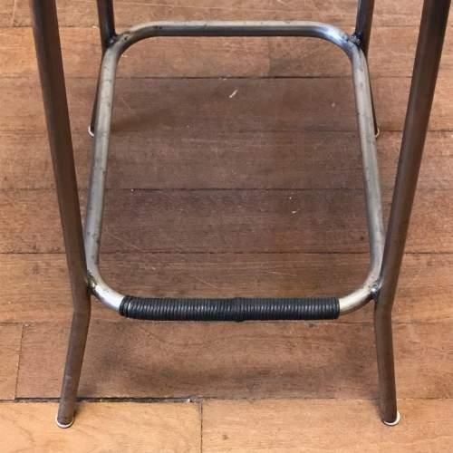 Vintage Tan Leather Bar Stool image-3