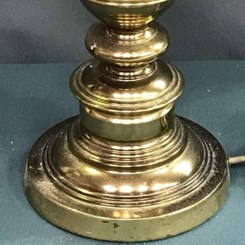 Pair of 20th Century Brass Lamps image-3